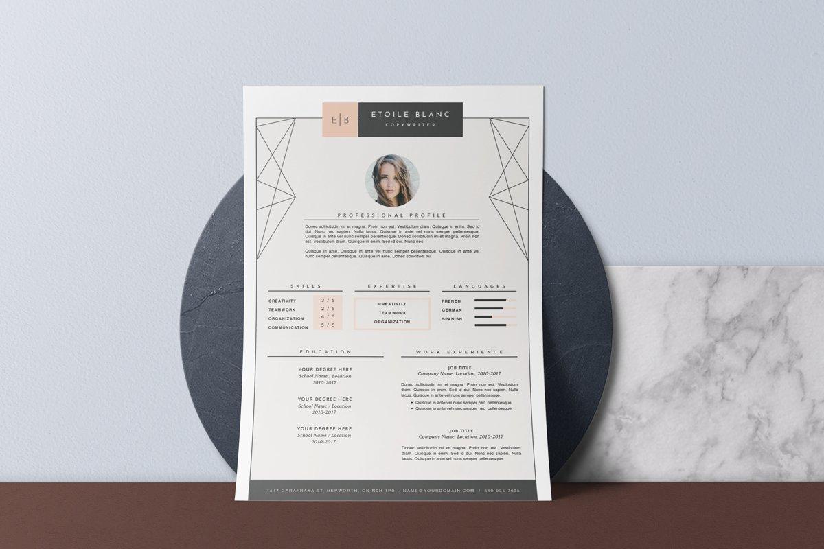 Creative resume template u2022 etoilé ~ resume templates ~ creative market