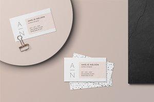 Business Card Template • Amelié