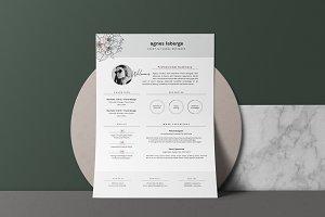 Feminine Resume Design • Agnes
