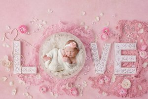 Newborn Digital Backdrop - Vintage