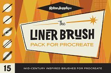 The Liner Brush Pack for Procreate by  in Procreate Brushes