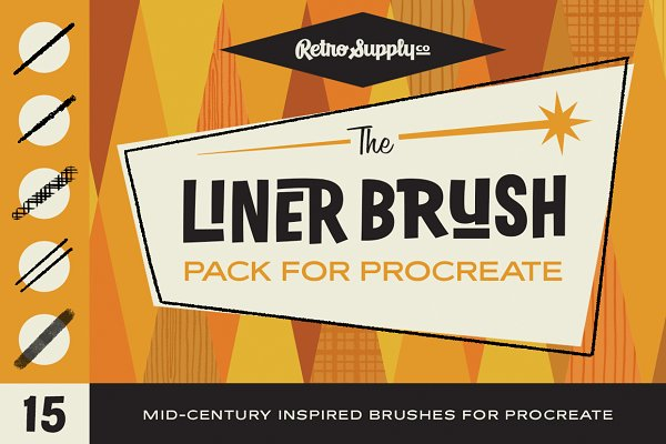 Add-Ons: RetroSupply Co. - The Liner Brush Pack for Procreate