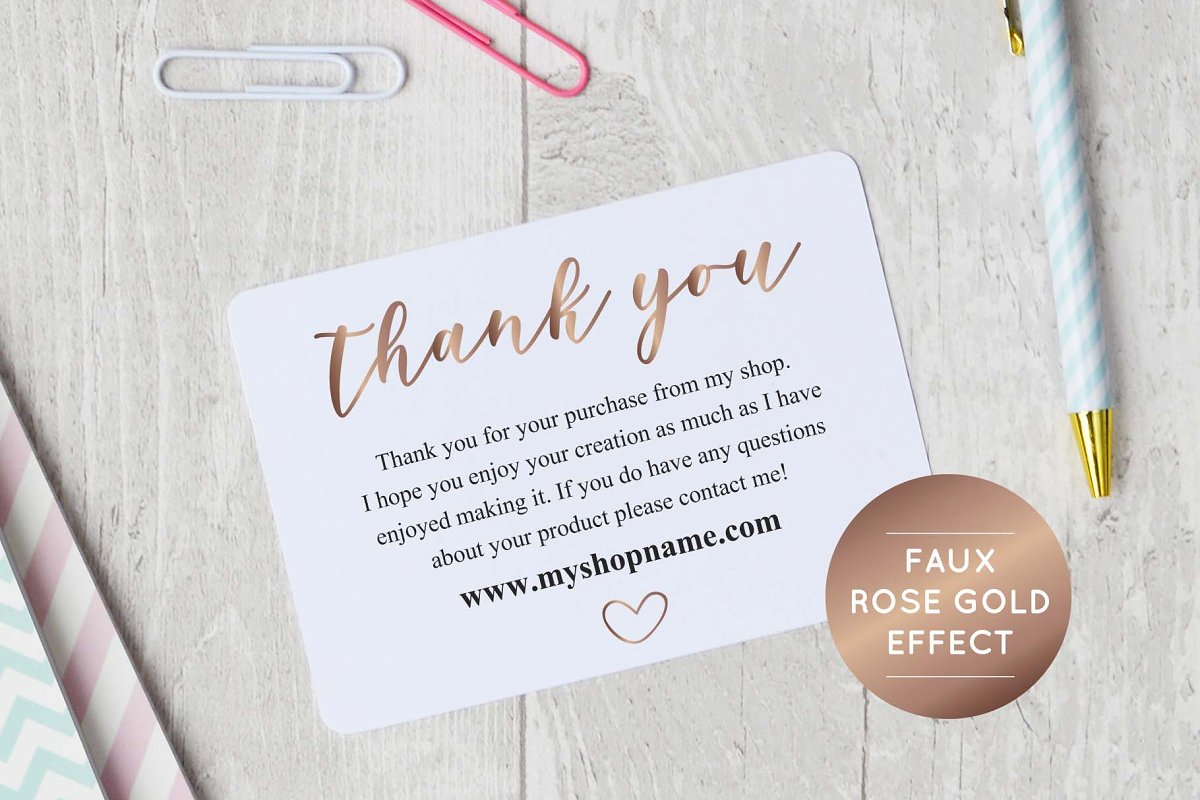 Rose Gold, Business Thank You Cards   Creative Stationery ...