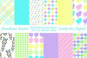 Jewel tone Easter Background Papers