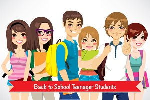 Back to School Teenager Students