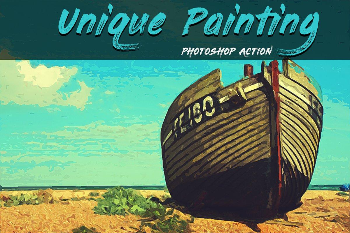 Скачать [Creativemarket] Unique Painting Photoshop Action (2019), Отзывы Складчик » Архив Складчин