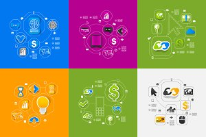 9 business sticker infographics