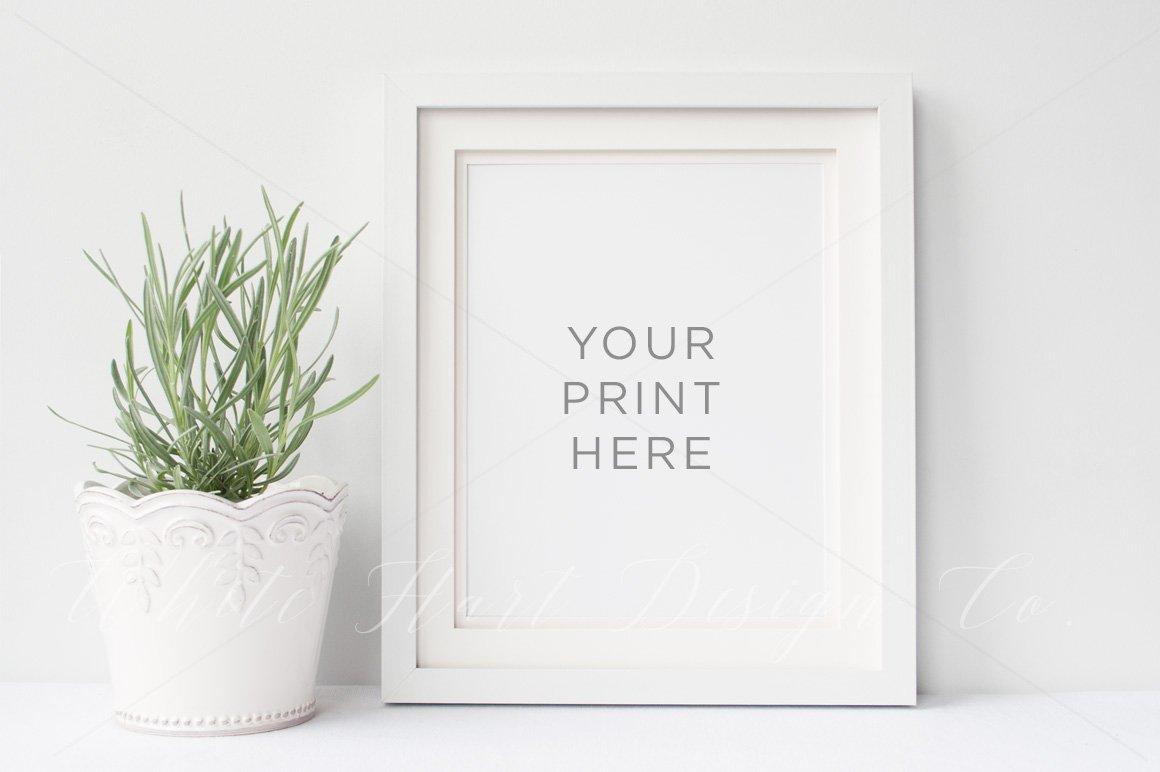 8x10\' Portrait Frame mock up ~ Product Mockups ~ Creative Market