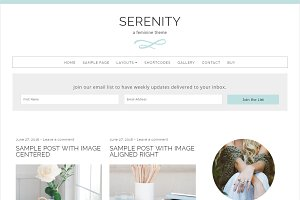 Serenity Feminine WordPress Theme