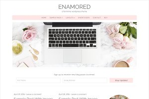Enamored Feminine WordPress Theme