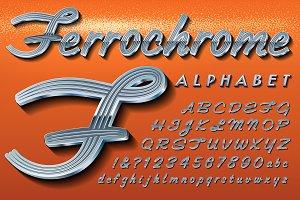 Ferrochrome Classic Car Alphabet