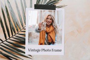 Vintage Photo Frame Mockup
