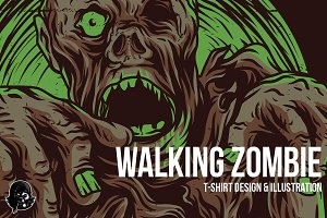 Walking Zombie Illustration