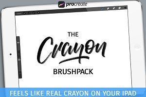 Crayon Brushpack for Procreate App