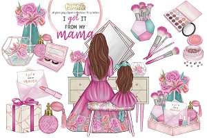 Mothers day clipart collection