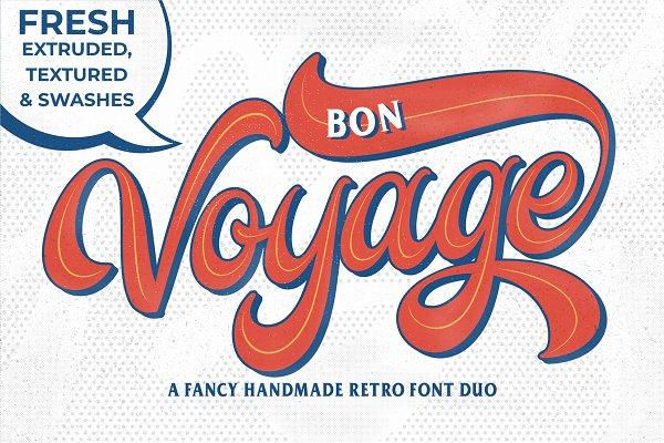 Retro Fonts - Bon Voyage!