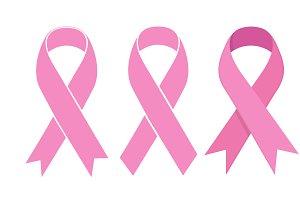 Pink Ribbon. Vector icon vector