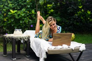 Woman freelancer, travel blogger