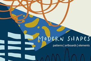 Modern Shapes Patterns & Artboards