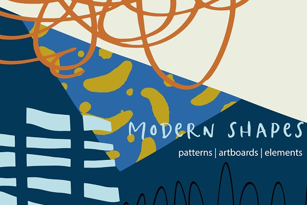 Graphic Patterns:  Sweet Fig - Modern Shapes Patterns & Artboards