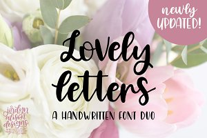 Lovely Letters Handwritten Font Duo