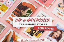 INK & WATERCOLOR animated bundle