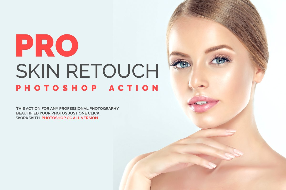 PRO Skin Retouch Photoshop Action ~ Photoshop Add-Ons