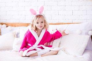Kid bunny girl
