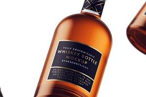 Whiskey-Nordic Bottle Mockup