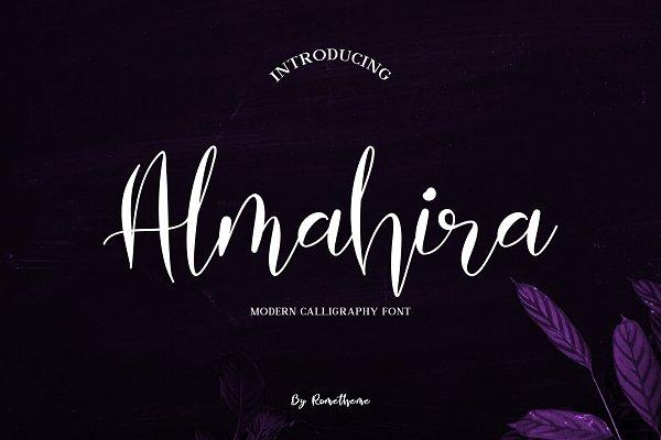 Almahira Script Font - 30% Off