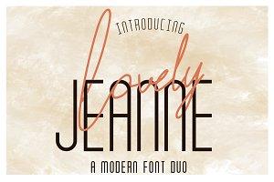 Lovely Jeanne | Font Duo