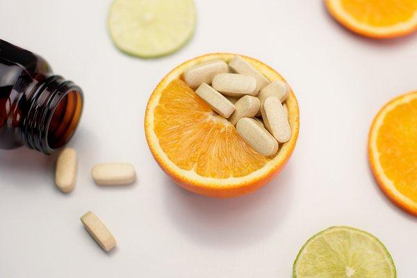Orange fruit and vitamin C