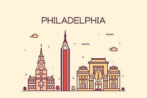 Philadelphia skyline (USA)
