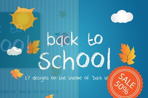 back to school  SALE 50%