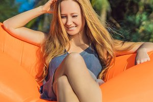 Summer lifestyle portrait of pretty