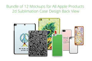 Bundle of 12 Apple Case mockup