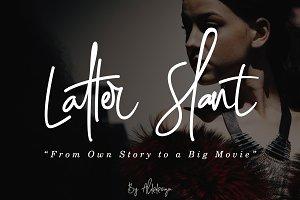 Latter Slant | Signature Font
