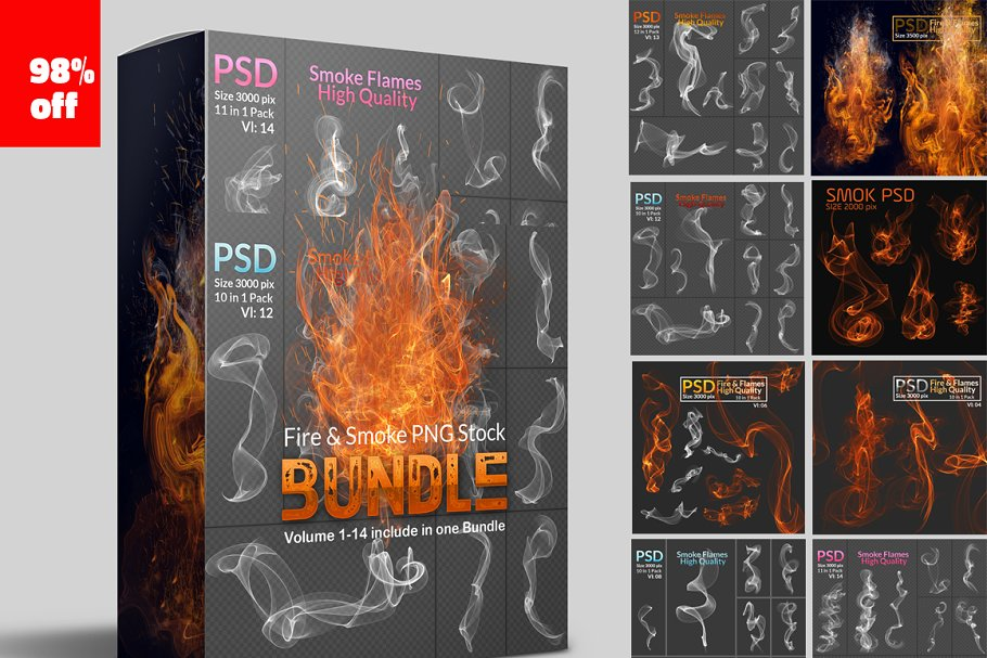 802ad46612b2 Fire & Smoke PNG Stock Bundle ~ Photoshop Add-Ons ~ Creative Market