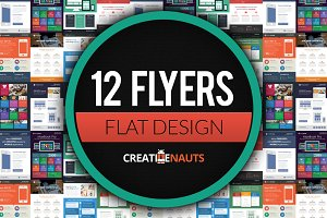 Flat Design Corporate Flyer Bundle