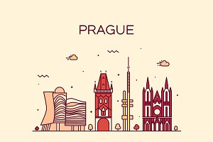 Prague skyline (Czech Republic)