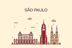 Sao Paulo skyline (Brazil)