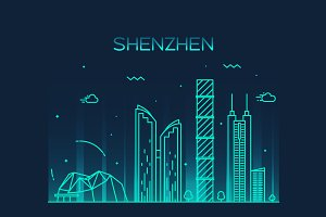 Shenzhen skyline (China)