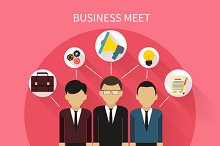 Business People on Meet
