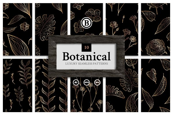 Graphic Patterns: AndrewDesign - WOW Golden Botanical Patterns