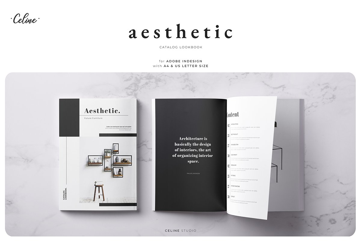 Aesthetic Lookbook Catalog Template Magazine Templates Creative