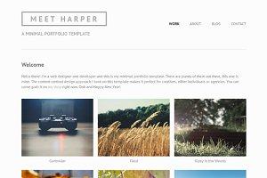 Harper - Minimal Portfolio Template
