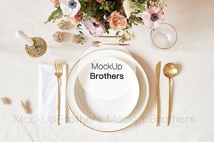 Wedding menu mockup mock up card