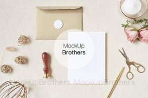 Greetings Card mockup Wedding 5x7