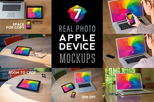 7 Real Photo Apple Device Mockups
