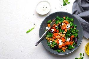 Healthy Vegetarian Salad, Roasted